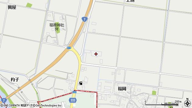 山形県酒田市広野上割周辺の地図