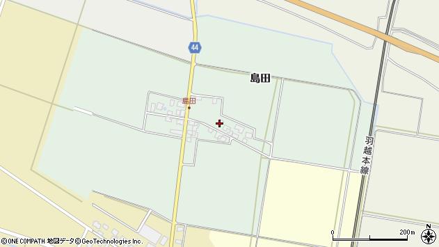 山形県東田川郡庄内町島田谷地古田5周辺の地図