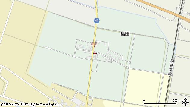 山形県東田川郡庄内町島田周辺の地図