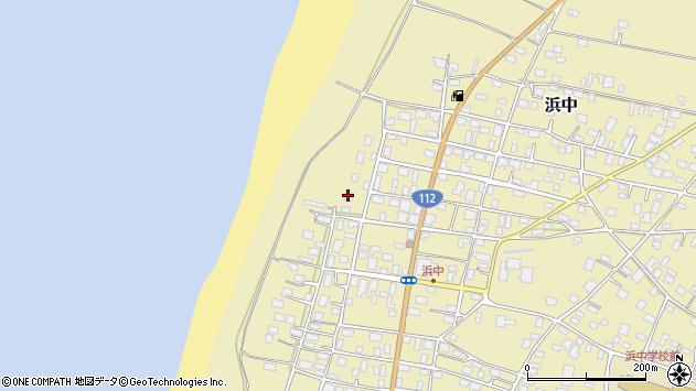 山形県酒田市浜中下村乙周辺の地図