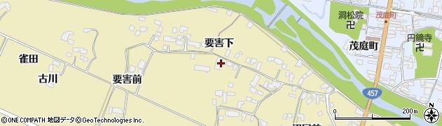 宮城県栗原市栗駒中野要害下周辺の地図