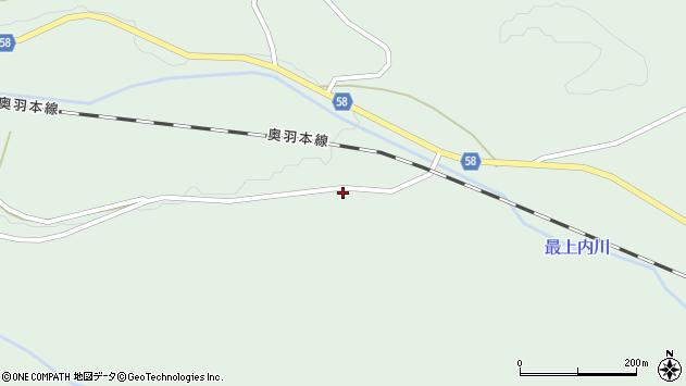 山形県最上郡鮭川村京塚251周辺の地図