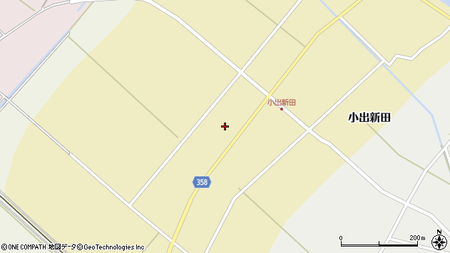 山形県東田川郡庄内町小出新田苧畑割43周辺の地図