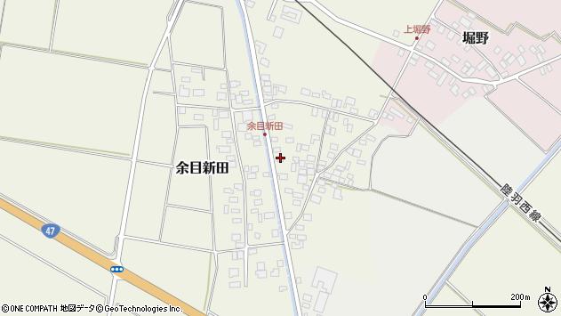 山形県東田川郡庄内町余目新田東町43周辺の地図