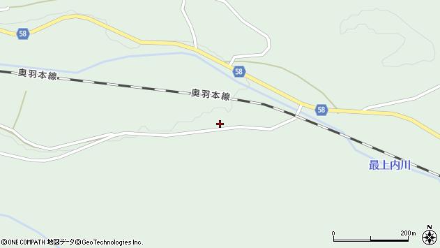 山形県最上郡鮭川村京塚272周辺の地図