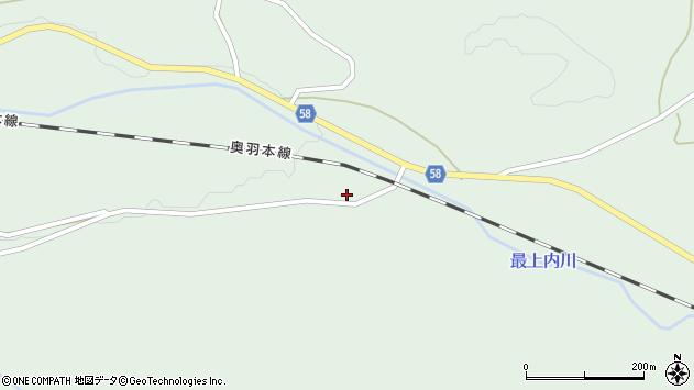 山形県最上郡鮭川村京塚228周辺の地図