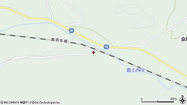 山形県最上郡鮭川村京塚222周辺の地図