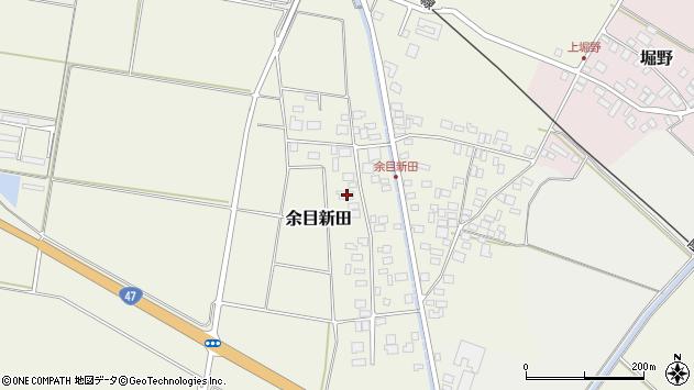山形県東田川郡庄内町余目新田西町36周辺の地図