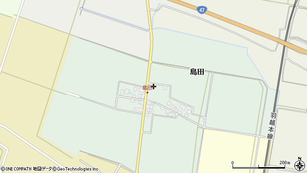 山形県東田川郡庄内町島田谷地古田12周辺の地図