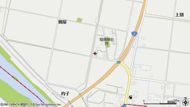 山形県酒田市広野興屋110周辺の地図