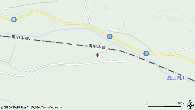 山形県最上郡鮭川村京塚275周辺の地図