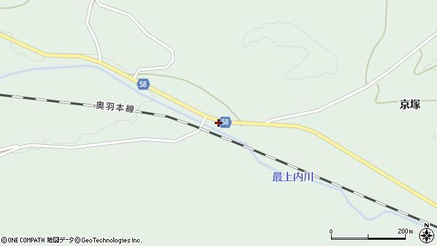 山形県最上郡鮭川村京塚215周辺の地図