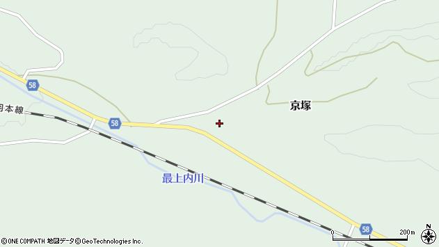 山形県最上郡鮭川村京塚204周辺の地図