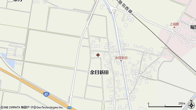 山形県東田川郡庄内町余目新田西町21周辺の地図