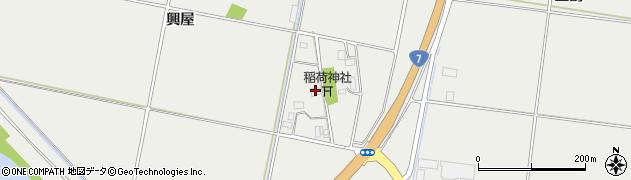山形県酒田市広野興屋周辺の地図