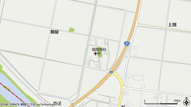 山形県酒田市広野興屋111周辺の地図