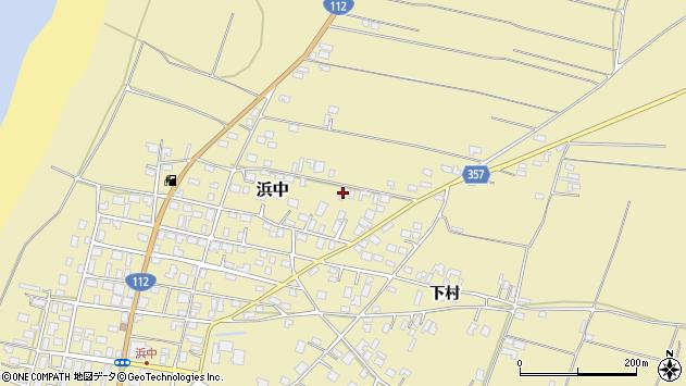 山形県酒田市浜中村北分散5周辺の地図