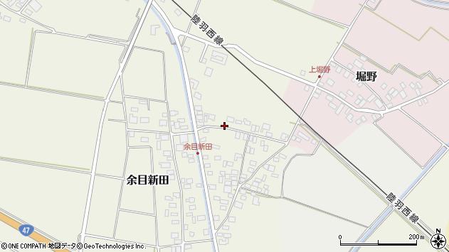 山形県東田川郡庄内町余目新田向町28周辺の地図