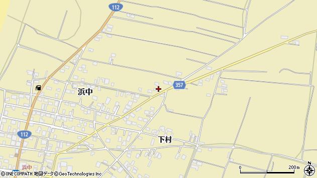 山形県酒田市浜中村北分散22周辺の地図