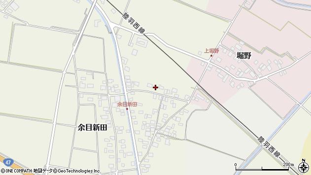 山形県東田川郡庄内町余目新田向町30周辺の地図