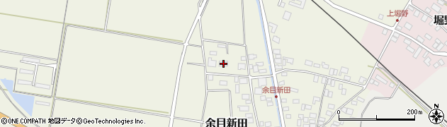 山形県東田川郡庄内町余目新田新田町4周辺の地図