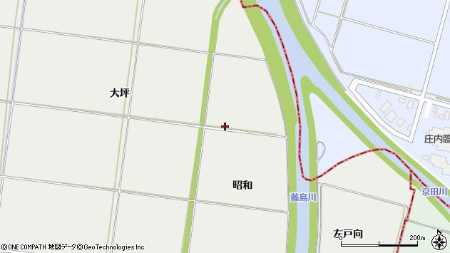 山形県酒田市広野昭和周辺の地図