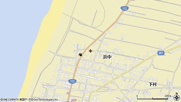 山形県酒田市浜中下村112周辺の地図