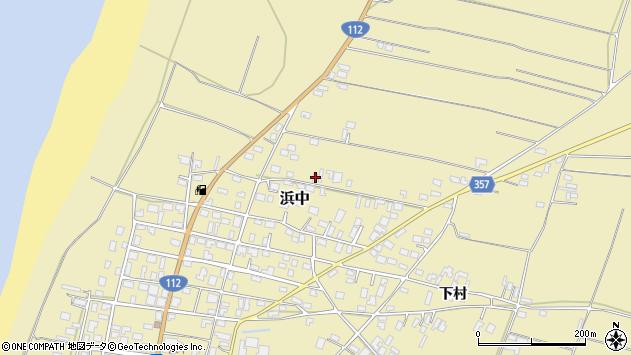 山形県酒田市浜中村北分散周辺の地図