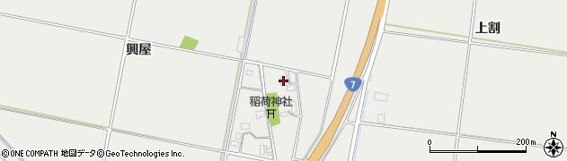 山形県酒田市広野興屋125周辺の地図