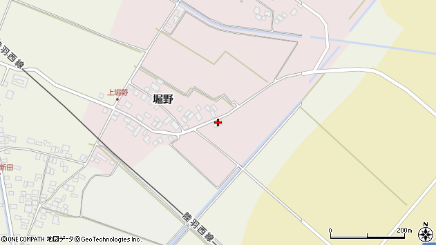 山形県東田川郡庄内町堀野上堀野28周辺の地図