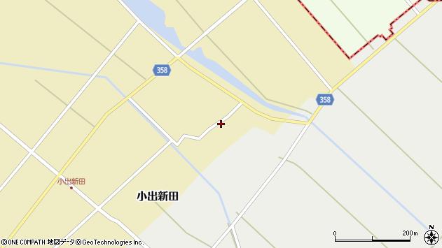 山形県東田川郡庄内町小出新田二タ縄周辺の地図