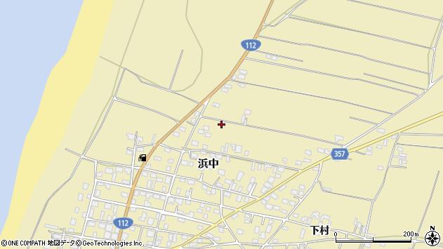 山形県酒田市浜中村北分散51周辺の地図