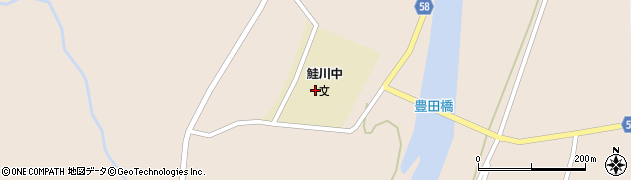 山形県最上郡鮭川村庭月2510周辺の地図