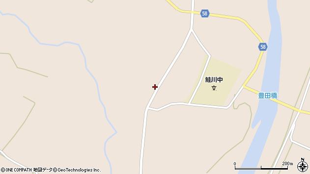 山形県最上郡鮭川村庭月2564周辺の地図