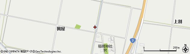 山形県酒田市広野興屋146周辺の地図