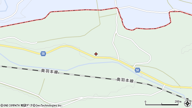 山形県最上郡鮭川村京塚312周辺の地図