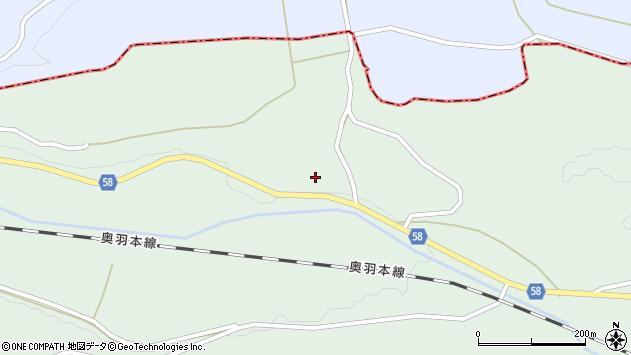 山形県最上郡鮭川村京塚309周辺の地図