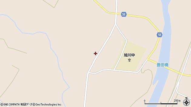 山形県最上郡鮭川村庭月2562周辺の地図