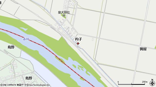 山形県酒田市広野杓子73周辺の地図