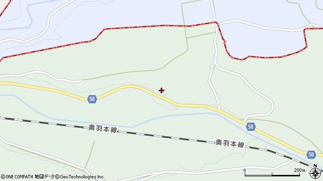 山形県最上郡鮭川村京塚3005周辺の地図