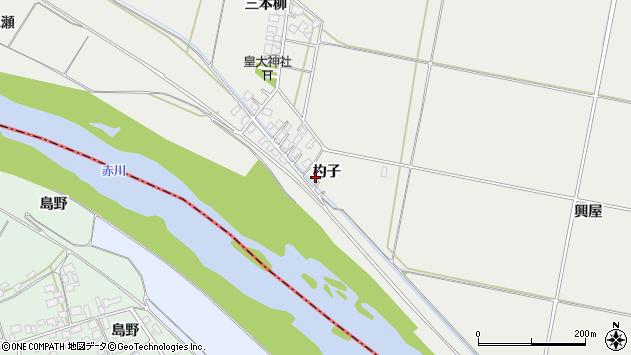 山形県酒田市広野杓子71周辺の地図