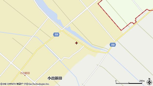 山形県東田川郡庄内町小出新田村北162周辺の地図
