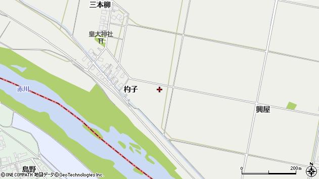 山形県酒田市広野杓子198周辺の地図