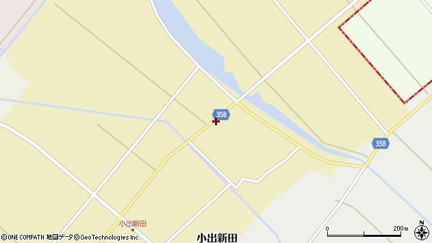 山形県東田川郡庄内町小出新田村北98周辺の地図