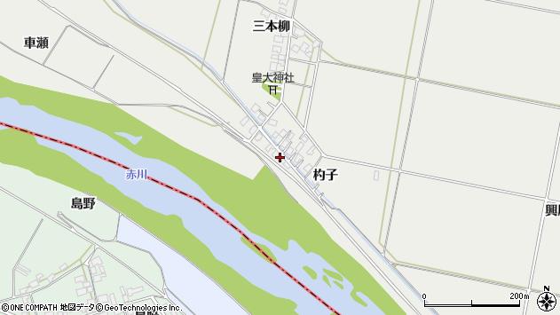 山形県酒田市広野杓子60周辺の地図