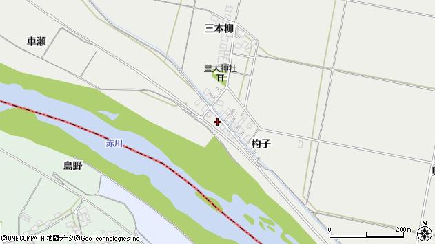 山形県酒田市広野杓子周辺の地図