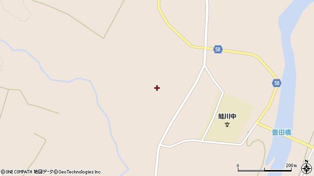 山形県最上郡鮭川村庭月2574周辺の地図