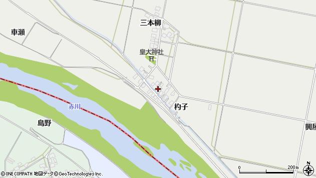 山形県酒田市広野杓子61周辺の地図