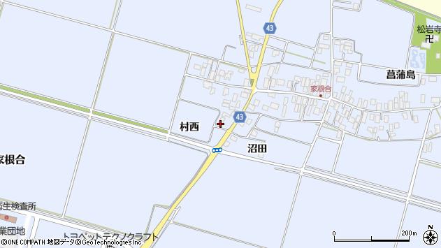 山形県東田川郡庄内町家根合村西周辺の地図