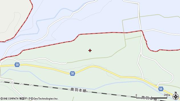山形県最上郡鮭川村京塚水野新田周辺の地図